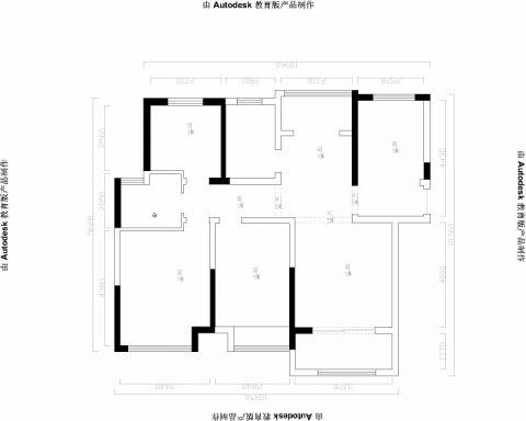 芜湖绿地伊顿公馆86平米简约风格户型图