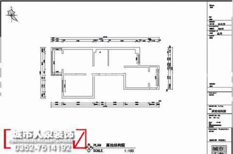 大同金水湾107平米简约风格户型图