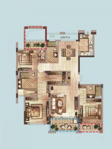 杭州绿城桃源小镇300平米现代简约风格户型图