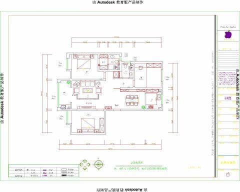 晋中新兴国际文教城135平米现代风格户型图