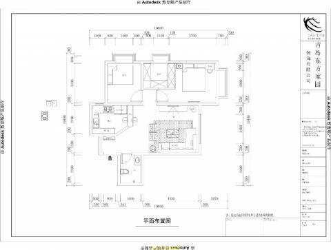 青岛中城嘉汇149平米现代简约风格户型图
