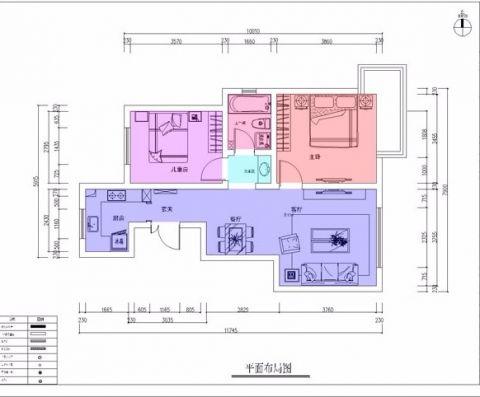 天津天津远洋城280平米欧式风格户型图