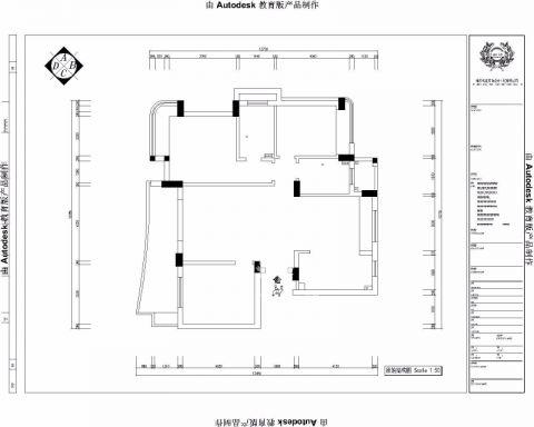 绍兴金色蓝庭143平米新古典风格户型图