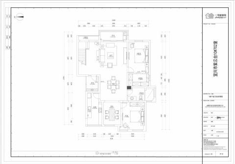宜兴龙湖紫云台215平米东南亚风格户型图