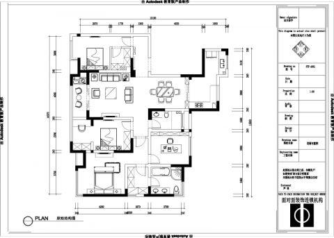 宜兴融创氿园143平米田园风格户型图