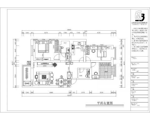 北京北京玫瑰园小区120平米简约风格户型图