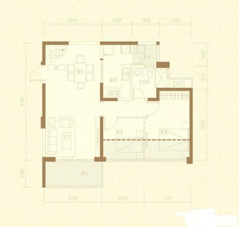 成都信和御龙山140平米现代简约风格户型图