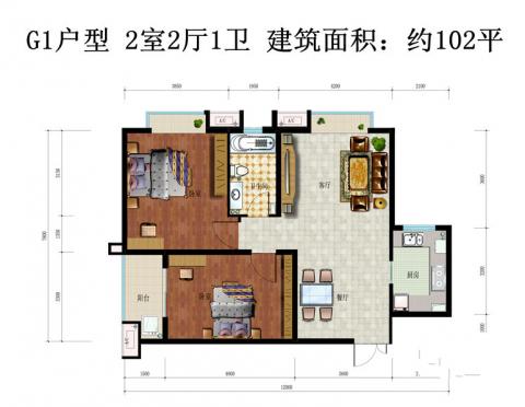 西安曲江风景线152平米田园风格户型图