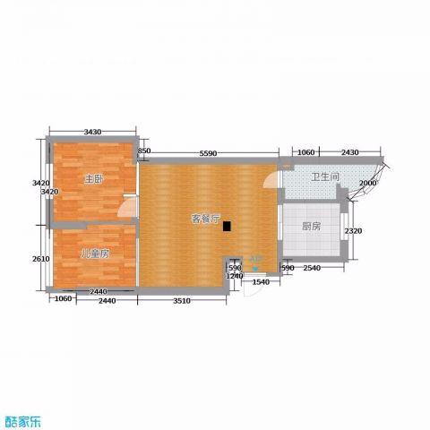 上海三林苑68平米日式风格户型图