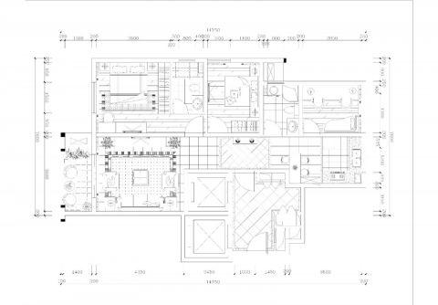 湖州新嘉园.嘉和苑100平米美式风格户型图