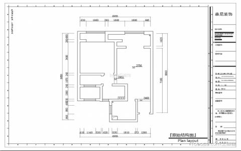 昆山绿地康桥郡77平米现代简约风格户型图