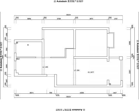 昆山嘉兴苑70平米现代风格户型图
