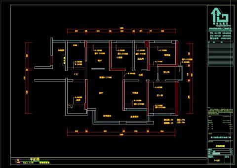 深圳紫云庭126平米现代简约风格户型图