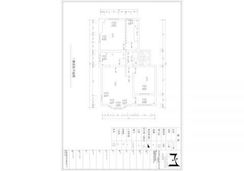 郑州普罗旺世220平米美式风格户型图