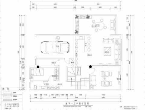 北京东直门别墅300平米简欧风格户型图