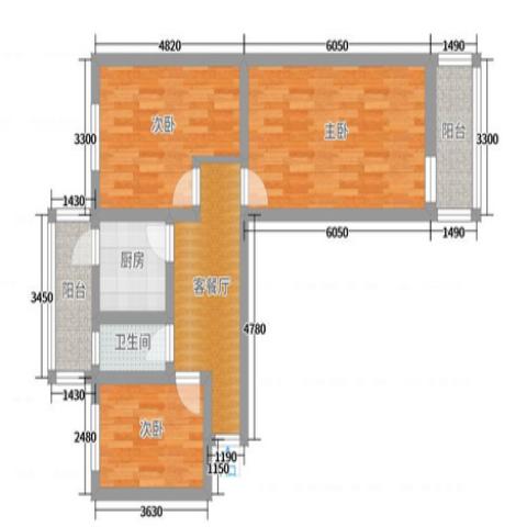 太原羊市街安检局78平米简约风格户型图