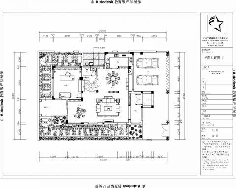 中山金沙花园330平米新中式风格户型图