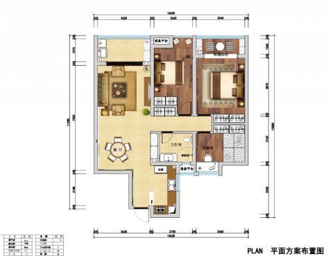 南昌洪大赣江城114平米新古典风格户型图