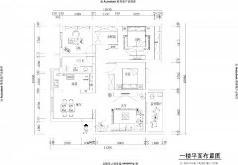 巢湖远洲玫瑰园180平米现代风格户型图