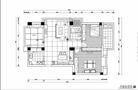 宁波新天地东区95平米简欧风格户型图