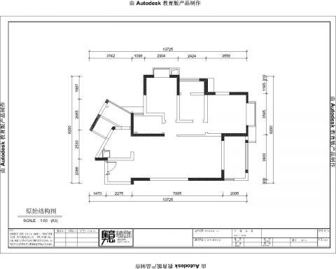 重庆御龙天峰110平米简欧风格户型图