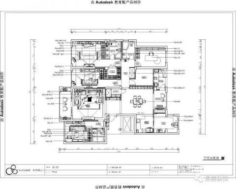 宁波名门府220平米欧式风格户型图
