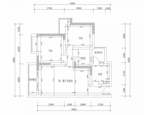 成都九龙仓御园144平米简欧风格户型图