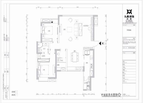 成都百悦城114平米北欧风格户型图