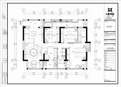 成都明信鹭湾132平米新中式风格户型图