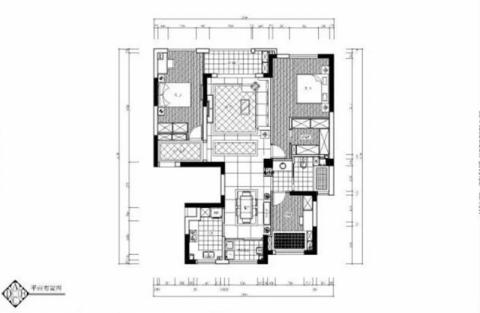 宁波风景御园110平米现代风格户型图
