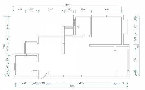 昆山千灯裕花园二期91平米地中海风格户型图