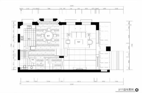 宁波金色荣湾385平米新中式风格户型图