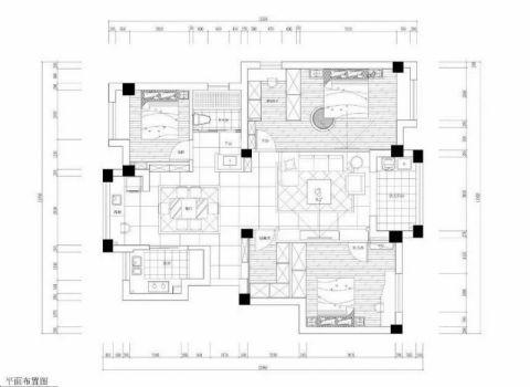 宁波兴乐佳苑105平米现代欧式风格户型图