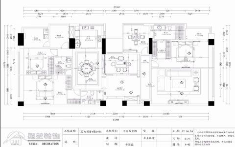 惠州富力丽港中心300平米新中式风格户型图