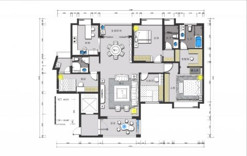 3室3卫2厅