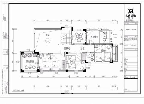 成都黄龙溪谷440平米美式风格户型图