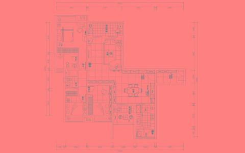 广州华南新城·江山颐景120平米地中海风格户型图
