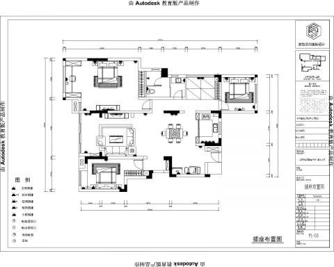 合肥华邦蜀山里146平米现代简约风格户型图