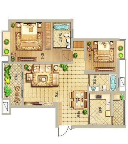 2室1卫2厅
