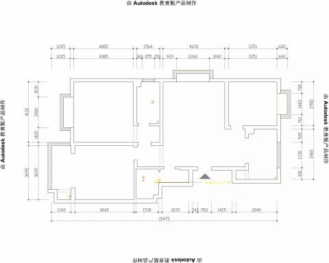 济南普利利源花园128平米现代简约风格户型图