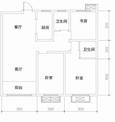 徐州君临华府121平米现代简约风格户型图