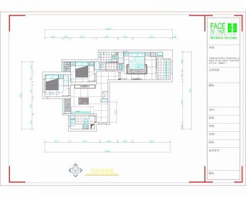 郑州故里新家园120平米简约风格户型图