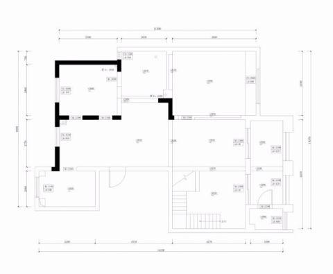 无锡长江国际花园190平米美式风格户型图