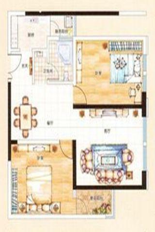 大理滇西商务中心100平米地中海风格户型图