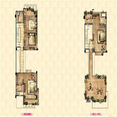 福州新大陆壹号254平米欧式风格户型图