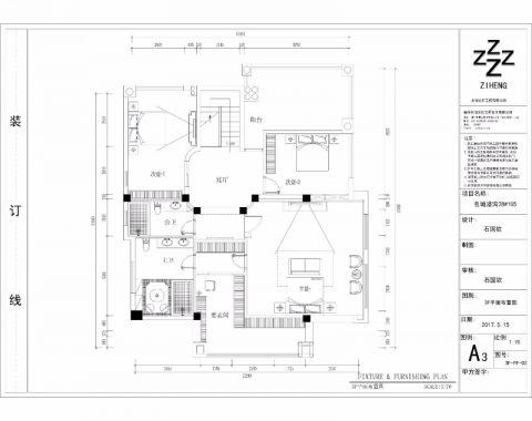 福州名城港湾别墅650平米欧式风格户型图
