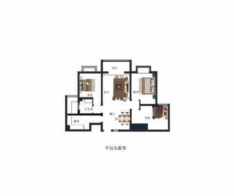 济宁金山新苑130平米简约风格户型图