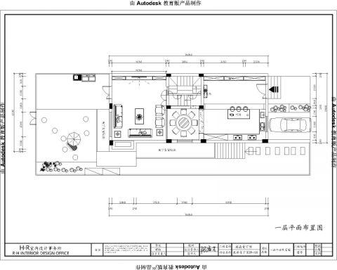 南昌鹿鼎国际红酒城520平米美式风格户型图