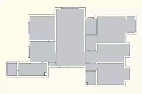 太原太原公园伍号140平米现代简约风格户型图
