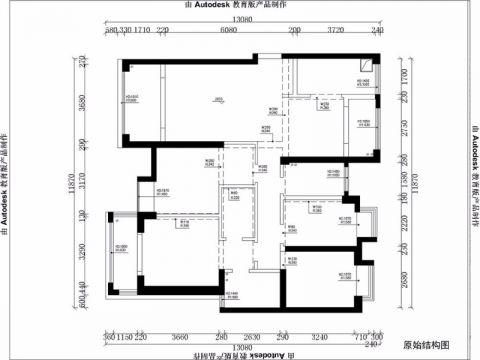 厦门世茂湖滨首府142平米欧式风格户型图